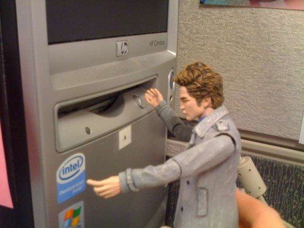 Edward fixes the computer