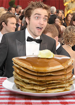 Pattinson with Pancakes