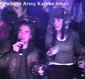 Rob Pattinson and Katy Perry sing karoke